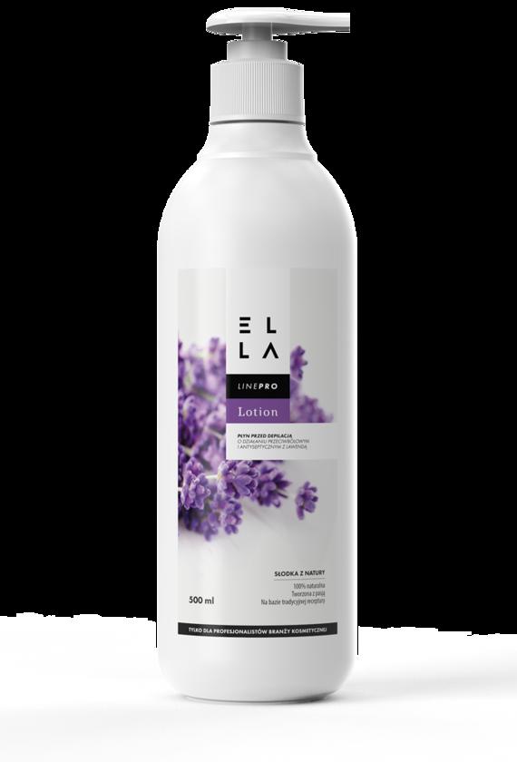 ELLA Lotion lawendowy płyn znieczulający przed depilacją 500 ml