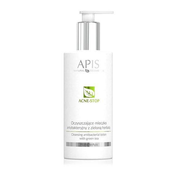 Oczyszczające mleczko antybakteryjne z zieloną herbatą Apis Acne-Stop Home Terapis 300 ml